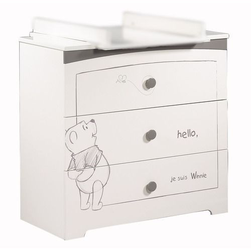 Commode 3 Tiroirs Adorable Pooh. SAUTHON