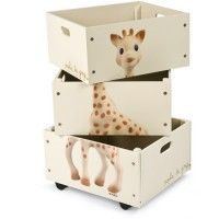 Set de 3 caisses empilables Sophie la Girafe