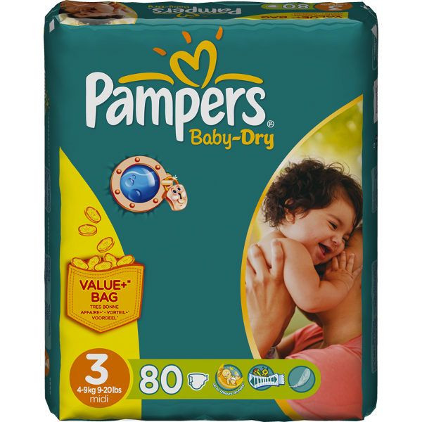 Pampers baby dry midi t3 4 9 kg pampers avis - Bon de reduction couches pampers a imprimer ...