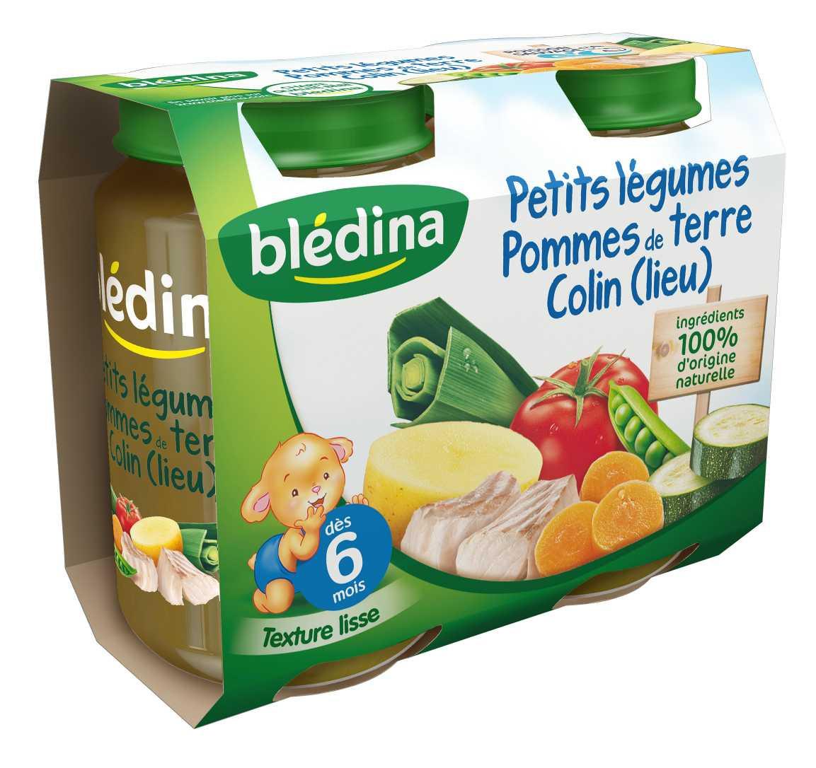 Initier Bébé Au Pot pot petits légumes pommes de terre colin 2x200g bledina
