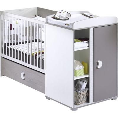 Lit b b transformable 60 x120 cm india sauthon avis - Lit bebe avec table a langer integree ...