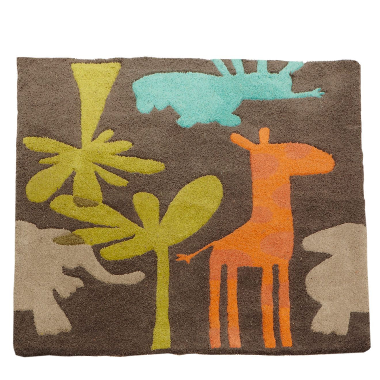 Charmant Tapis Chambre Enfant Theme Savane Party. VERTBAUDET