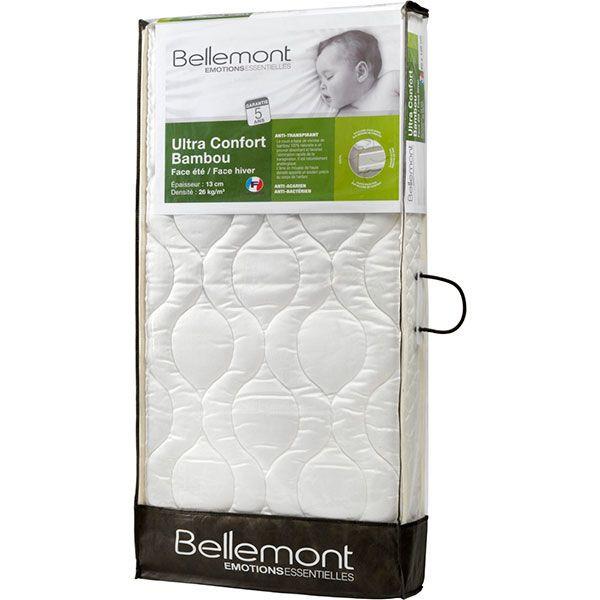 matelas b b bambou climatis 60 x 120 cm bellemont avis. Black Bedroom Furniture Sets. Home Design Ideas