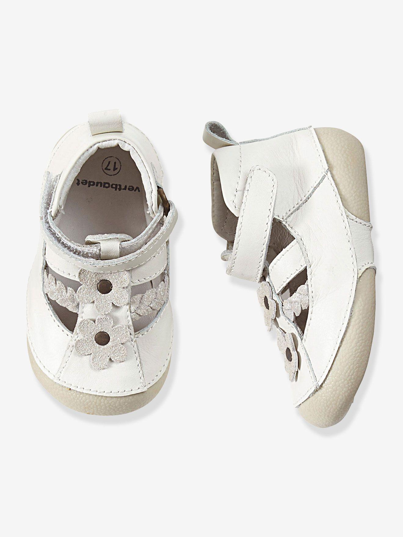 97b7bbf07107c Chaussures cuir bébé fille spécial 4 pattes forme sandales ...
