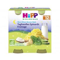 Menu Bonne Nuit Tagliatelles Epinards Fromage - 2 pots x 250g - 12 mois