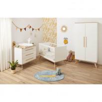 Chambre Lit 70x140 + Commode + Armoire FANON