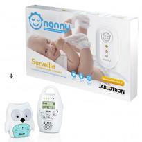 Moniteur mouvements & respiration + Babyphone sans onde Chouette