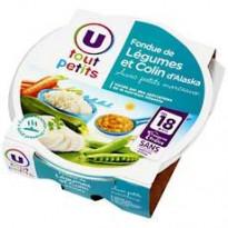 Assiette pour Bébé : fondue de légumes et colin d'Alaska