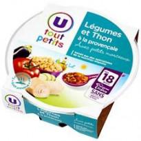Assiette pour Bébé : petits légumes et thon