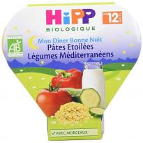 Menu Bonne nuit Pâtes Etoilées Légumes Méditerranéens - Assiette 230g - 12mois