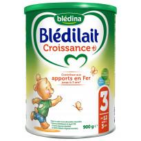 Lait Blédilait Croissance +) 900g