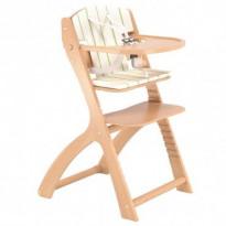 Chaise haute évolutive avec coussin