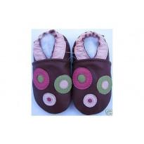 Chaussons bébé cuir souple