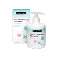 Gel douche-shampooing moussant