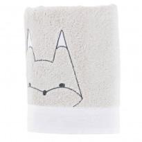 Serviette de toilette bouclette de coton biologique brodée animaux Imagine