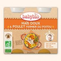 Petit Pot Menu Maïs Doux & Poulet Fermier du Poitou