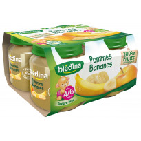 Pot Pommes Bananes 4x130g