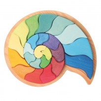 Puzzle ammonite serpent arc-en-ciel
