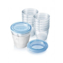 Kit conservation lait maternel 10 pots et couvercles