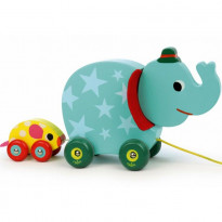 Jouet musical à tirer - L'éléphant et la souris