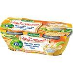 LES IDEES DE MAMAN Légumes varies petites pâtes veau 2x200 g dès 6 mois