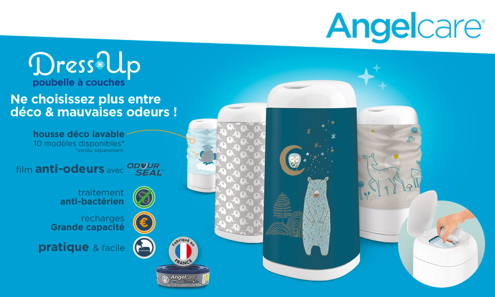 baby test poubelle dress up angelcare