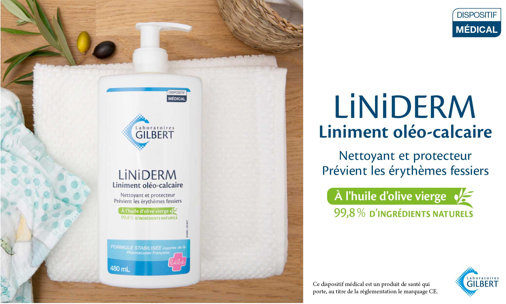 baby test liniment oleo calcaire liniderm laboratoires gilbert