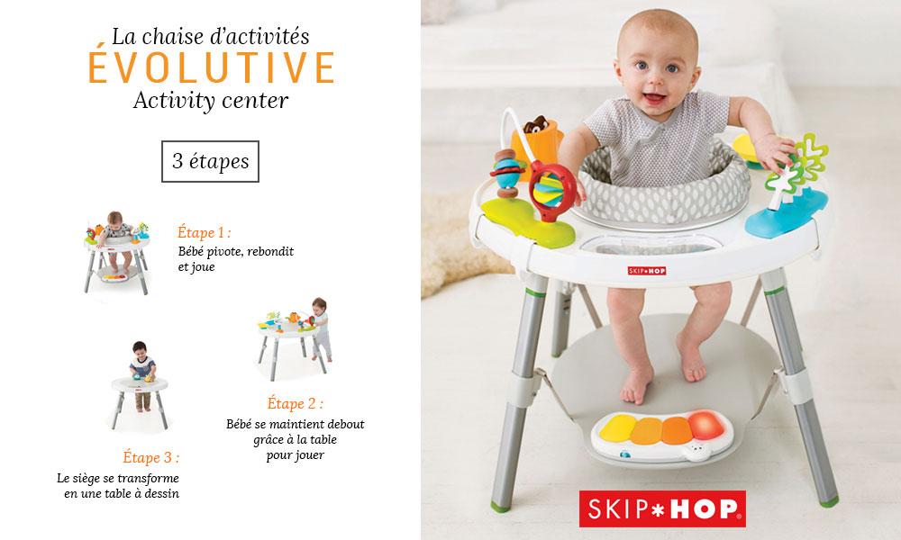 baby test Chaise activités évolutive Skip Hop