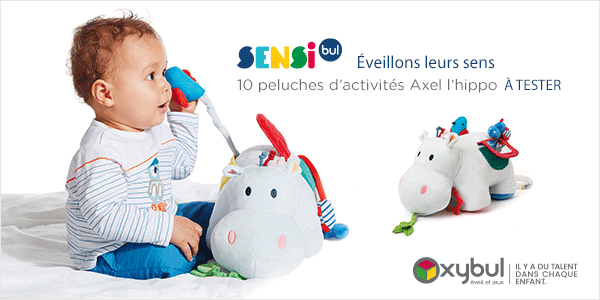 baby test peluche activites axel hippo oxybul