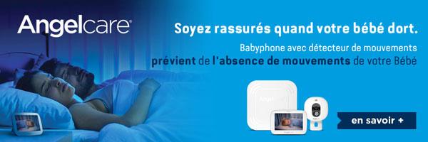 babyphone avec détecteur mouvements angelcare