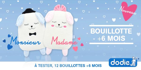 baby test bouillotte gel +6 mois Dodie
