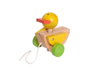test jouet canard en bois