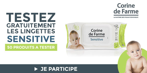baby test lingettes sensitive corine de farme