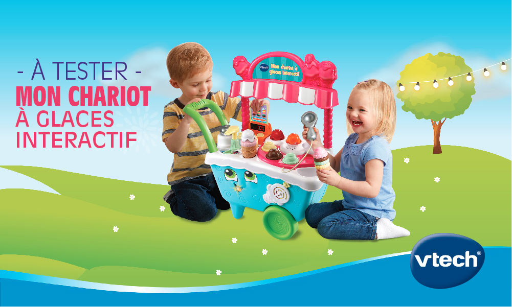 baby test chariot a glaces vtech