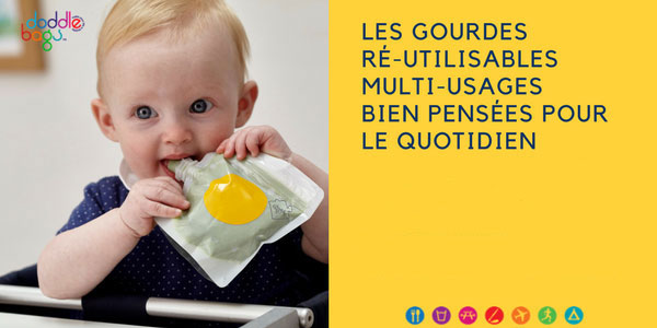 baby test gourdes réutilisables doddle bags