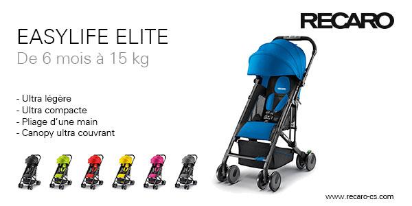 baby test recaro poussette easylife elite