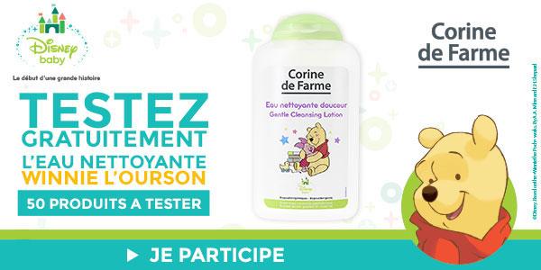 baby test eau nettoyante douceur winnie l'ourson Corine de Farme