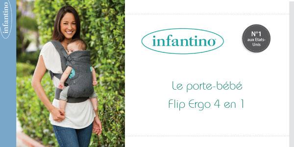 baby test porte bebe flip ergo 4 en 1 infantino