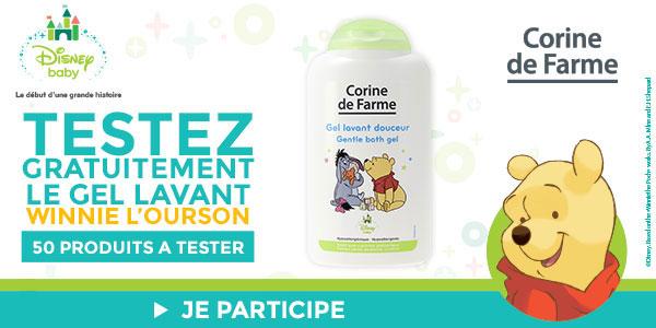 baby test gel lavant douceur winnie l'ourson Corine de Farme
