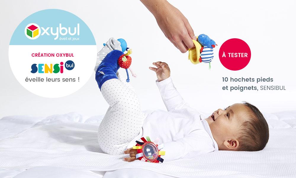 baby test hochet pieds poignets oxybul