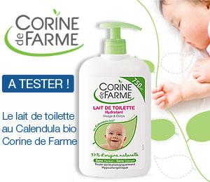 Lait toilette bébé Corine de farme