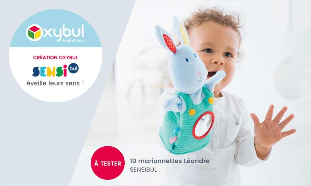 baby test marionnette leandre oxybul