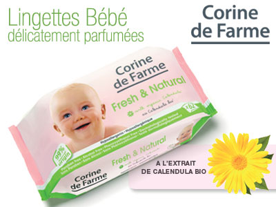 test lingettes fresh corine de farme