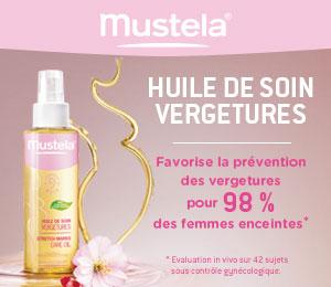 test huile vergetures mustela