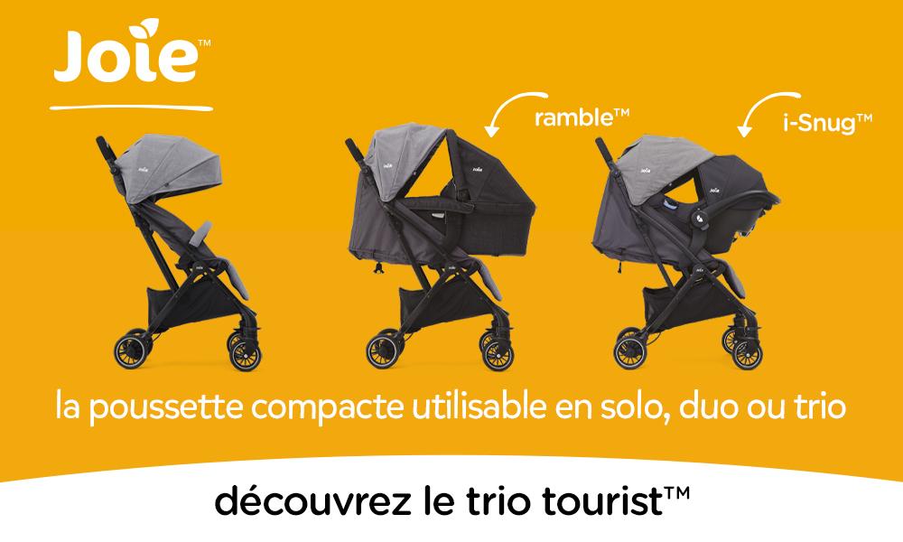 baby test Poussette Trio Tourist Joie