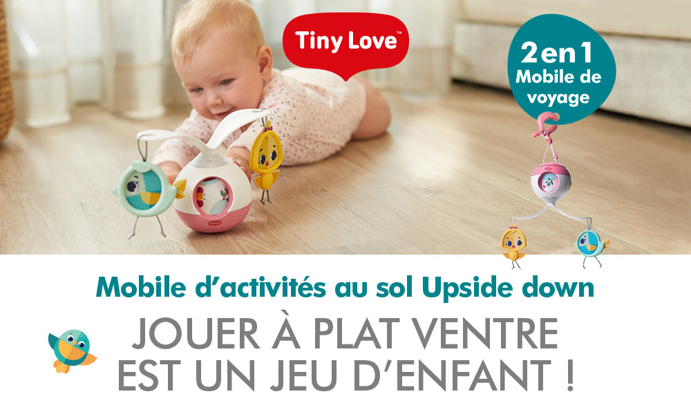 baby test mobile au sol upside down 2 en 1