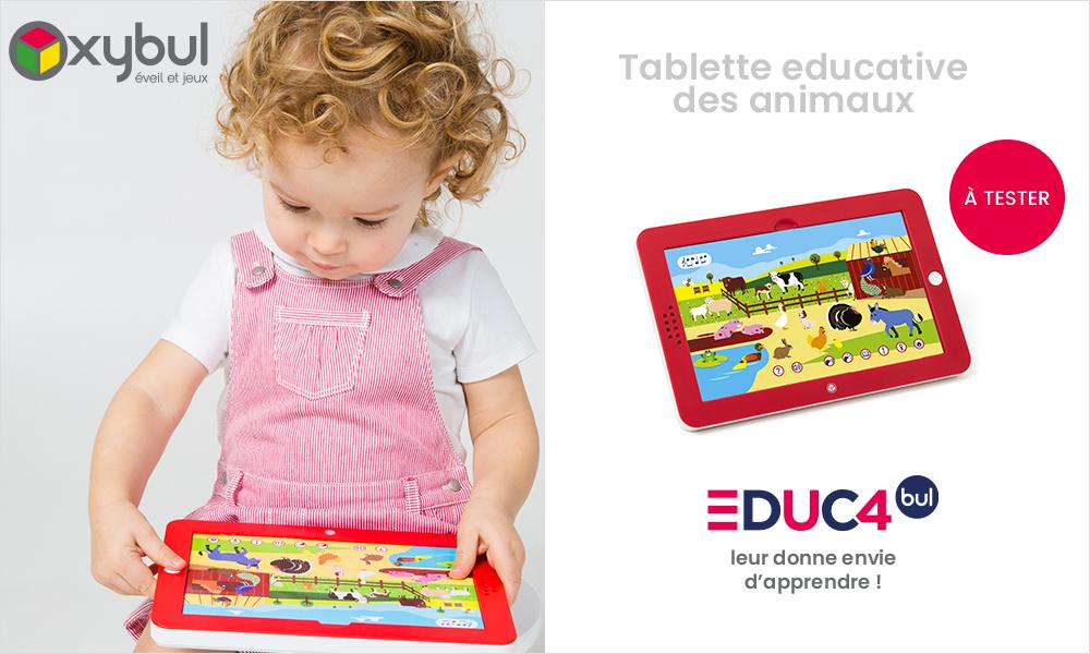 baby test Tablette éducative des animaux oxybul
