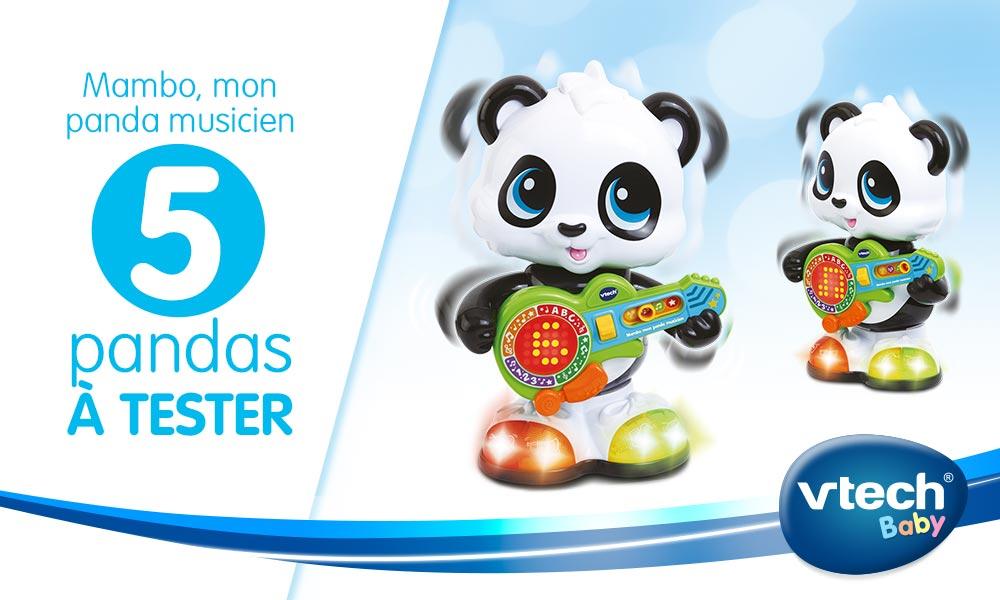 babytest Mambo Panda Musicien vtech