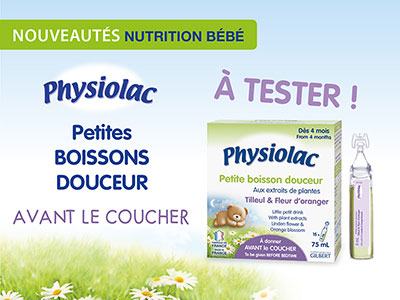 test physiolac douceur coucher
