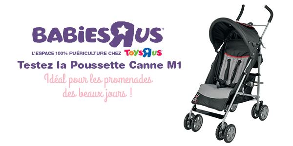 test poussette canne babies r us